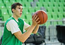 Vlatko Cancar during practice session of KK Union Olimpija before new basketball season 2015/16, on September 29, 2015 in Arena Stozice, Ljubljana, Slovenia. Photo by Vid Ponikvar / Sportida