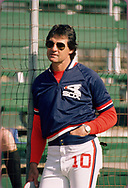 SARASOTA, FL - 1986:  Manager Tony LaRussa of the Chicago White Sox looks on prior to a major league baseball spring training game at Payne Park in Sarasota, Florida prior to the 1986 season.  (Photo by Ron Vesely)  Subject:   Tony LaRussa
