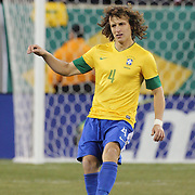 David Luiz, Brazil, in action during the Brazil V Colombia International friendly football match at MetLife Stadium, New Jersey. USA. 14th November 2012. Photo Tim Clayton