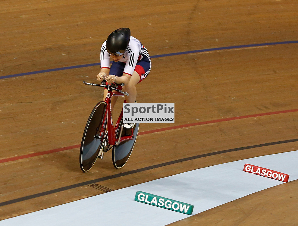 UCI Track Cycling World Cup Glasgow 4th - 6th November 2016. Emily Nelson (GBR) takes 4th place in the Women's Individual pursuit.....(c) STEPHEN LAWSON | SportPix.org.uk