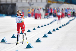 YOUNG Emily CAN LW6 competing in the ParaSkiDeFond, Para Nordic Skiing, Sprint at  the PyeongChang2018 Winter Paralympic Games, South Korea.