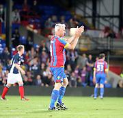 Crystal Palace boss Alan Pardew applauds the Dundee support - Crystal Palace v Dundee - Julian Speroni testimonial match at Selhurst Park<br /> <br />  - © David Young - www.davidyoungphoto.co.uk - email: davidyoungphoto@gmail.com