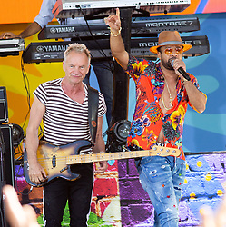 Sting and Shaggy on Good Morning America Concert Series Central Park, NY. 25 May 2018 Pictured: Sting, Shaggy. Photo credit: RCF / MEGA TheMegaAgency.com +1 888 505 6342
