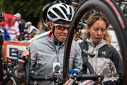 Rider of Bigla Pro Cycling Team after the sign-on at the Holland Ladies Tour, Zeddam, Gelderland, The Netherlands, 1 September 2015.<br /> Photo: Pim Nijland / PelotonPhotos.com