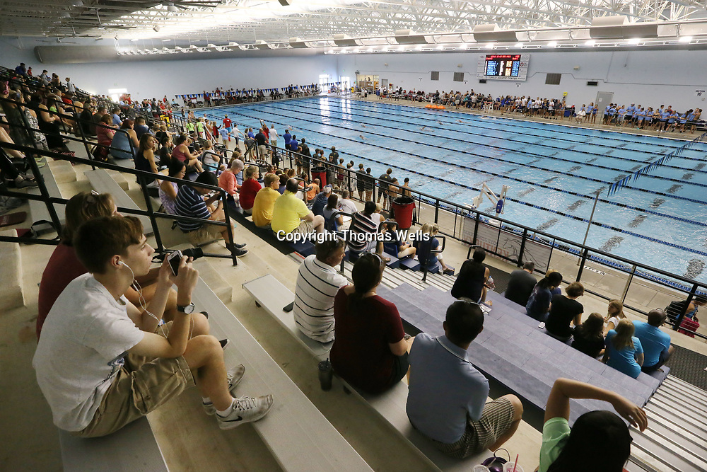 Hundreds of swimmers and fans fill up the Tupelo Aquatic Center on Tuesday as the 2017 Southern Zone Championship gets underway.