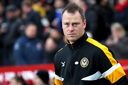 Newport County Manager Michael Flynn during the FA Cup fourth round match at Riverside Stadium, Middlesbrough.