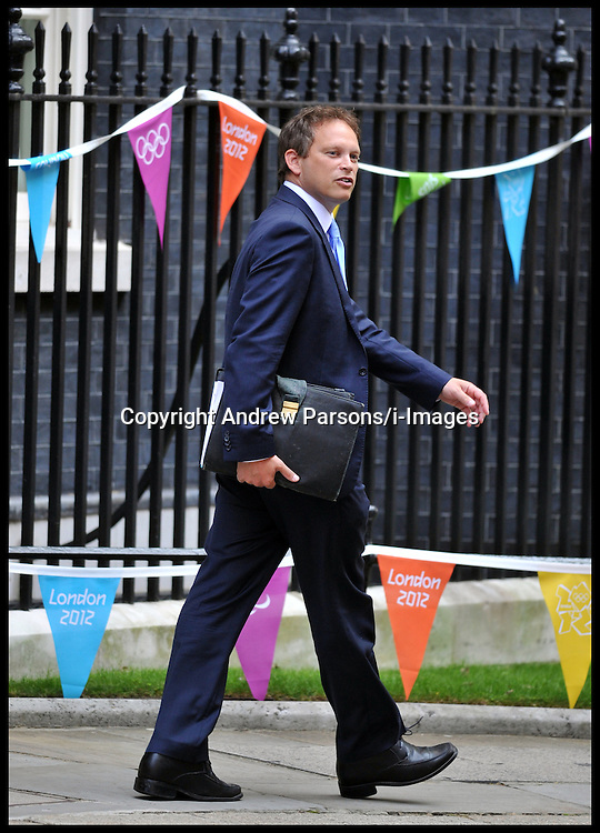 Grant Shapps leaves No10 Downing Street after being made Conservative Party Chairman in the Cabinet reshuffle, Tuesday September 4, 2012. Photo By Andrew Parsons/i-Images