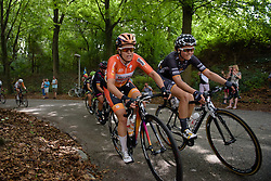 Karol-Ann Canuel  (Boels Dolmans) in the lead group with 16km to go at the 123 km Stage 3 of the Boels Ladies Tour 2016 on 1st September 2016 in Sittard Geleen, Netherlands. (Photo by Sean Robinson/Velofocus).