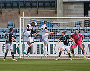Inverness Caledonian Thistle&rsquo;s Edward Ofere heads home the winning goal  - Dundee v Inverness Caledonian Thistle - SPFL Premiership at Dens Park <br /> <br />  - &copy; David Young - www.davidyoungphoto.co.uk - email: davidyoungphoto@gmail.com