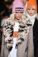 Marjan Jonkman walks the runway wearing Alexander Wang Fall 2016 during New York Fashion Week on February 13, 2016