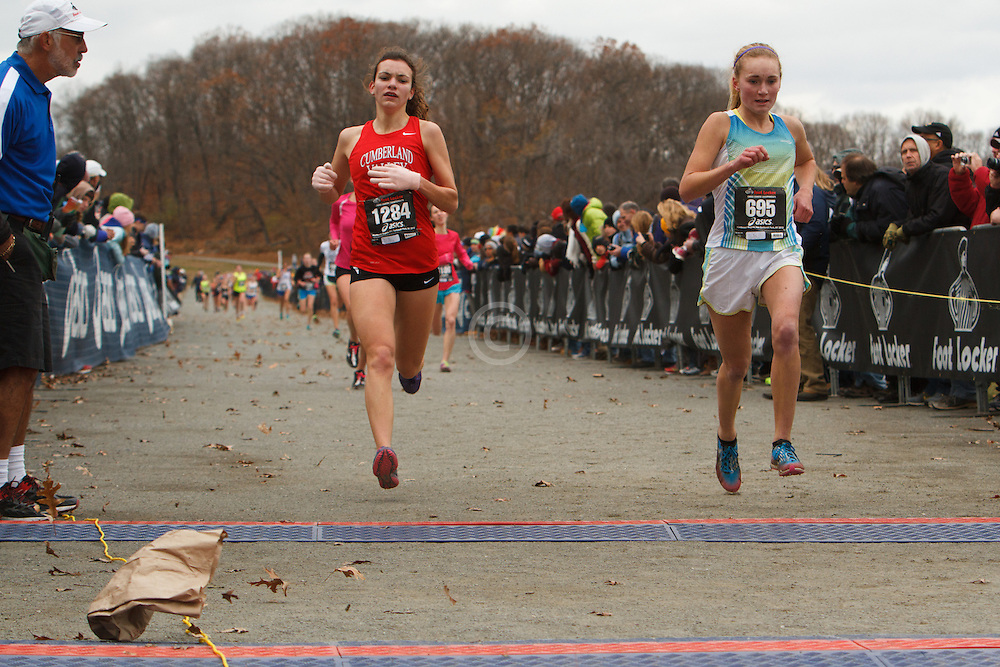 Foot Locker Cross Country Northeast Regional Championship race, Carol Strock, PA, Paige Stoner, PA