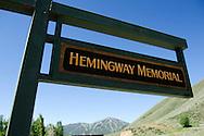 Hemingway Memorial with a diversion of Trail Creek near Sun Valley, Idaho