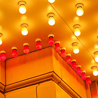 Picture of theater exterior building lights. Image is available as a stock photo, poster or print.