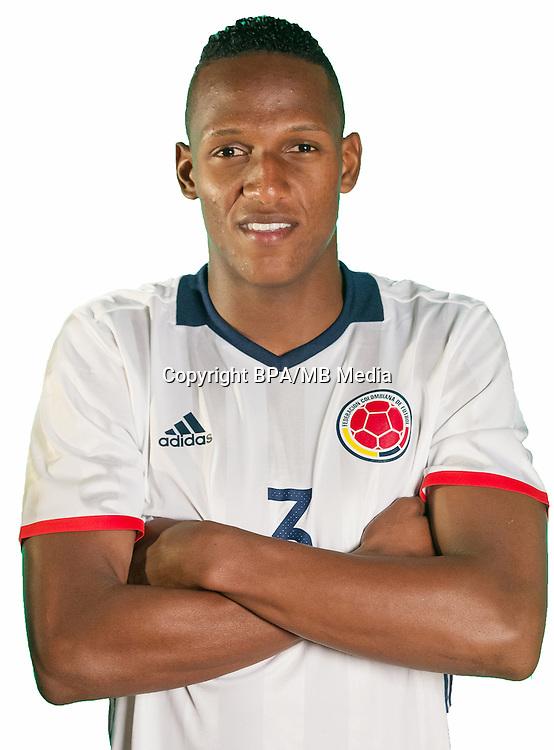 Football Conmebol_Concacaf - <br />Copa America Centenario Usa 2016 - <br />Colombia National Team - Group A - <br />Yerry Mina