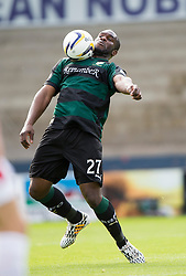 Raith Rovers Christian Nade.<br /> Raith Rovers 0 v 0 Falkirk, Scottish Championship game played 27/9/2014 at Raith Rovers Stark Park.