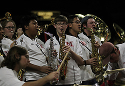 November 14, 2017 - Oxford, Ohio, U.S - The Miami (Oh) Redhawks band play on Tue Nov 15, 2017. During the Miami (Oh) Redhawks  game with Wright State Raiders. As Miami win in overtime  (Credit Image: © Ernest Coleman via ZUMA Wire)