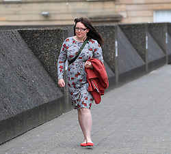 Pictured: Natalie McGarry arrives at Court.<br /> <br /> Former SNP MP Natalie McGarry appeared at Glasgow Sheriff Court at the start of her trial, where she is accused of embezzling almost &pound;41,000 GBP from several independence campaign organisations.<br /> <br /> &copy; Dave Johnston / EEm