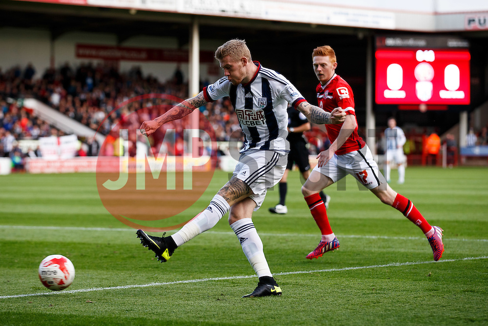 James McClean of West Brom shoots - Mandatory byline: Rogan Thomson/JMP - 07966 386802 - 28/07/2015 - SPORT - Football - Walsall, England - Besot Stadium - Walsall v West Bromwich Albion - 2015/16 Pre Season Friendly.