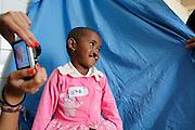 No.76 Faratiana Rasoarimanjaka, Female, Aged 4, BCL, Before. In the PIT station..Operation Smile South Africa.Operation Smile Mission to Hospital Joseph Ravoanangy Andrianavalona,.Antananarivo, Madagascar. September 17th - 29th 2011..© Operation Smile Photo / Zute & Demelza Lightfoot.www.lightfootphoto.com