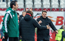 08.12.2016, Red Bull Arena, Salzburg, AUT, UEFA EL, FC Red Bull Salzburg vs Schalke 04, Gruppe I, im Bild Jubel von Trainer Oscar Garcia (FC Red Bull Salzburg) // Trainer Oscar Garcia (FC Red Bull Salzburg) celebrate during the UEFA Europa League group I match between FC Red Bull Salzburg and Schalke 04 at the Red Bull Arena in Salzburg, Austria on 2016/12/08. EXPA Pictures © 2016, PhotoCredit: EXPA/ JFK