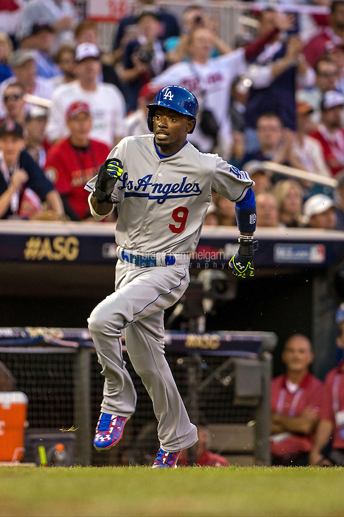 MINNEAPOLIS, MN- JULY 15: National League All-Star Dee Gordon #9 of the Los Angeles Dodgers during the 85th MLB All-Star Game at Target Field on July 15, 2014 in Minneapolis, Minnesota. (Photo by Brace Hemmelgarn) *** Local Caption *** Dee Gordon