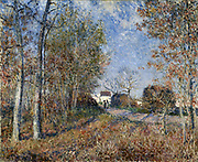 A Corner of the Woods at Sablon' 1883: Alfred Sisley (1839-1899) French painter.  Oil on canvas.