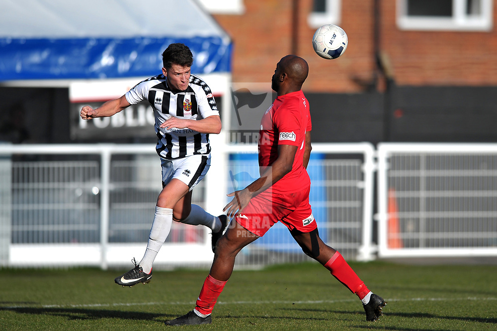 TELFORD COPYRIGHT MIKE SHERIDAN  Theo Streete of Telford during the Vanarama Conference North fixture between Spennymoor Town and AFC Telford United at Brewery Field, Spennymoor on Saturday, February 29, 2020.<br /> <br /> Picture credit: Mike Sheridan/Ultrapress<br /> <br /> MS201920-048