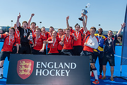 Blackheath & Elthamians v East London - Men's T2 Final, Lee Valley Hockey & Tennis Centre, London, UK on 07 May 2018. Photo: Simon Parker