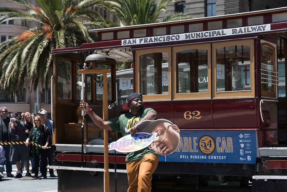 Radio DJ G BiZ from KMEL Performing in the Amateur Competition at the 54th Annual Cable Car Bell Ringing Contest | July 13, 2017