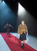 Black Watch <br /> National Theatre of Scotland<br /> written by Gregory Burke and directed by John Tiffany<br /> at The Barbican Theatre, London, Great Britain <br /> press photocall <br /> 26th November 2010 <br /> <br /> Jack Lowden (as Cammy)<br /> and ensemble<br /> <br /> Photograph by Elliott Franks