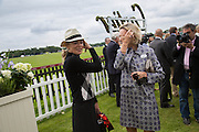 SHARON STONE; CARLA BAMBERGER, Cartier Queen's Cup final at Guards Polo Club, Windsor Great Park. 16 June 2013