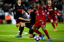 Angel Correa of Atletico Madrid takes on Georginio Wijnaldum of Liverpool - Mandatory by-line: Robbie Stephenson/JMP - 11/03/2020 - FOOTBALL - Anfield - Liverpool, England - Liverpool v Atletico Madrid - UEFA Champions League Round of 16, 2nd Leg