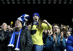 Sheffield Wednesday fans celebrate - Mandatory by-line: Robbie Stephenson/JMP - 13/05/2016 - FOOTBALL - Hillsborough - Sheffield, England - Sheffield Wednesday v Brighton and Hove Albion - Sky Bet Championship Play-off Semi Final first leg