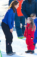 Photo session with CrownPrince Frederik and Crown princess Mary and their children in Verbier
