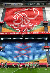 03.08.2015, Amsterdam Arena, Amsterdam, NLD, UEFA CL, Ajax Amsterdam vs SK Rapid Wien, Qualifikation, 3. Runde, Rückspiel, Training SK Rapid Wien, im Bild die Spieler von Rapid// during a training session of SK Rapid Wien for the UEFA Champions League Qualifier 3rd round, 2nd Leg Match between Ajax Amsterdam and SK Rapid Wien at the Amsterdam Arena in Amsterdam, Netherlands on 2015/08/03. EXPA Pictures © 2015, PhotoCredit: EXPA/ Sebastian Pucher