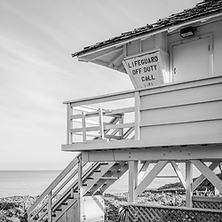 Maui lifeguard tower Kamaole Beach black and white photo in Wailiea Kihei Hawaii in the Hawaiian Islands. Copyright ⓒ 2019 Paul Velgos with All Rights Reserved.