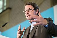"""19 NOV 2018, BERLIN/GERMANY:<br /> Andreas Scheuer, CSU, Bundesminister fuer Verkehr und digitale Infrastruktur, F.A.Z. Konferenz """"Mobilitaet in Deutschland - Zeit fuer neues Denken und Handeln"""", F.A.Z. Atrium<br /> IMAGE: 20181119-01-082<br /> KEYWORDS: F.A.Z."""