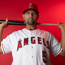 Los Angeles Angeles' Albert Pujols during photo day at Tempe Diablo Stadium on Tuesday, February 19, 2019 in Tempe, Arizona. (Photo by Keith Birmingham, Pasadena Star-News/SCNG)