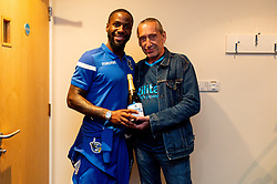 Abu Ogogo of Bristol Rovers receives his man of the match award after the final whistle of the match - Mandatory by-line: Ryan Hiscott/JMP - 17/09/2019 - FOOTBALL - Memorial Stadium - Bristol, England - Bristol Rovers v Gillingham - Sky Bet League One