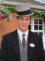 The HON.WILLIAM ASTOR son of Viscount Astor at Royal Ascot on 15th June 1999.MTG 24