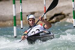 Antoine LAUNAY of Portugal during the Kayak Single (MK1) Mens Semi Final race of 2019 ICF Canoe Slalom World Cup 4, on June 30, 2019 in Tacen, Ljubljana, Slovenia. Photo by Sasa Pahic Szabo / Sportida