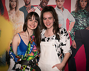2019, September 20. Pathe ArenA, Amsterdam, the Netherlands. Sarah Nauta and Julia Nauta at the premiere of Misfit 2.