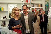 BASIA BRIGGS; JAKE ARNOTT, Party given by Basia and Richard Briggs at their home in Chelsea. London. 27 April 2011. <br /> <br />  , -DO NOT ARCHIVE-© Copyright Photograph by Dafydd Jones. 248 Clapham Rd. London SW9 0PZ. Tel 0207 820 0771. www.dafjones.com.