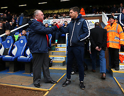 Bristol Rovers manager Darrell Clarke and Peterborough United manager Steve Evans - Mandatory by-line: Robbie Stephenson/JMP - 24/03/2018 - FOOTBALL - ABAX Stadium - Peterborough, England - Peterborough United v Bristol Rovers - Sky Bet League One