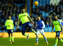 Bradley Johnson of Derby County heads the ball - Mandatory by-line: Robbie Stephenson/JMP - 13/02/2018 - FOOTBALL - Hillsborough - Sheffield, England - Sheffield Wednesday v Derby County - Sky Bet Championship