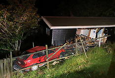 Auckland-Car smashes into house off SH1, Wellsford