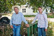 Father and daughter pipeline opponents, Rick and Meghan Hammond, on the family farm in Hordville, Nebraska.