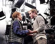 As You Like It <br /> by William Shakespeare<br /> at The Olivier Theatre, London, Great Britain <br /> press photocall<br /> 30th October 2015 <br /> <br /> Joe Bannister as Orlando <br /> Rosalie Craig as Rosalind <br /> <br /> Photograph by Elliott Franks <br /> Image licensed to Elliott Franks Photography Services