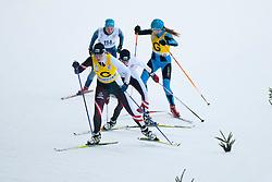 REMIZOVA Elena Guide: YAKIMOVA Natalia, RUS, SHYSHKOVA Oksana Guide: NESTERENKO Lada, UKR at the 2014 IPC Nordic Skiing World Cup Finals - Sprint