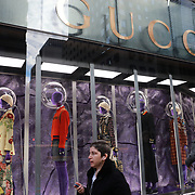 NEW YORK, NEW YORK - NOVEMBER 4: The Gucci Store on Fifth Avenue, Manhattan, New York. 4th November 2017. (Photo by Tim Clayton/Corbis via Getty Images)